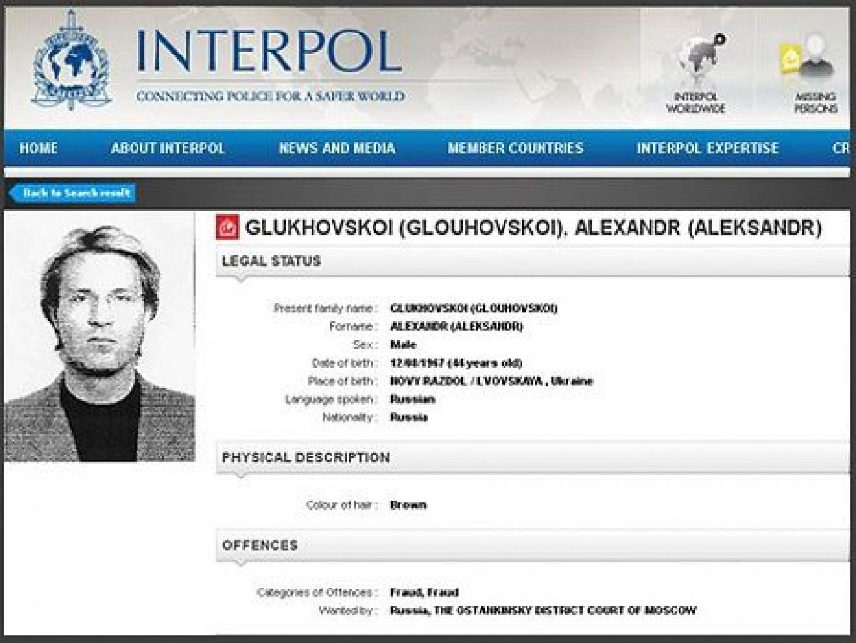 Alexander Glukhovskoi was last seen in Thailand in 2011 Interpol
