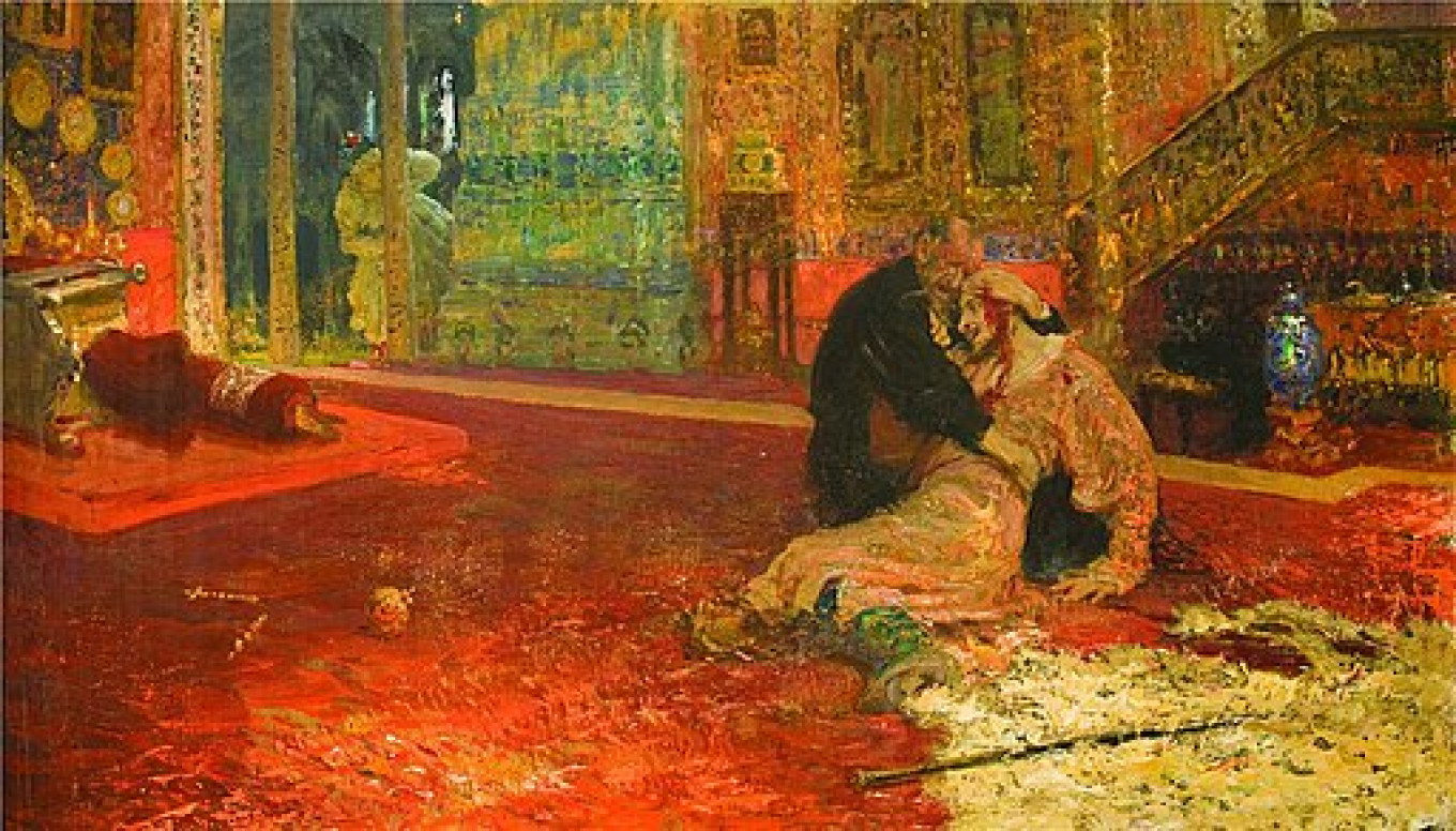 Ivan the Great and His Son Nov.16, 1581 (1909) by Ilya Repin State Tretyakov Gallery