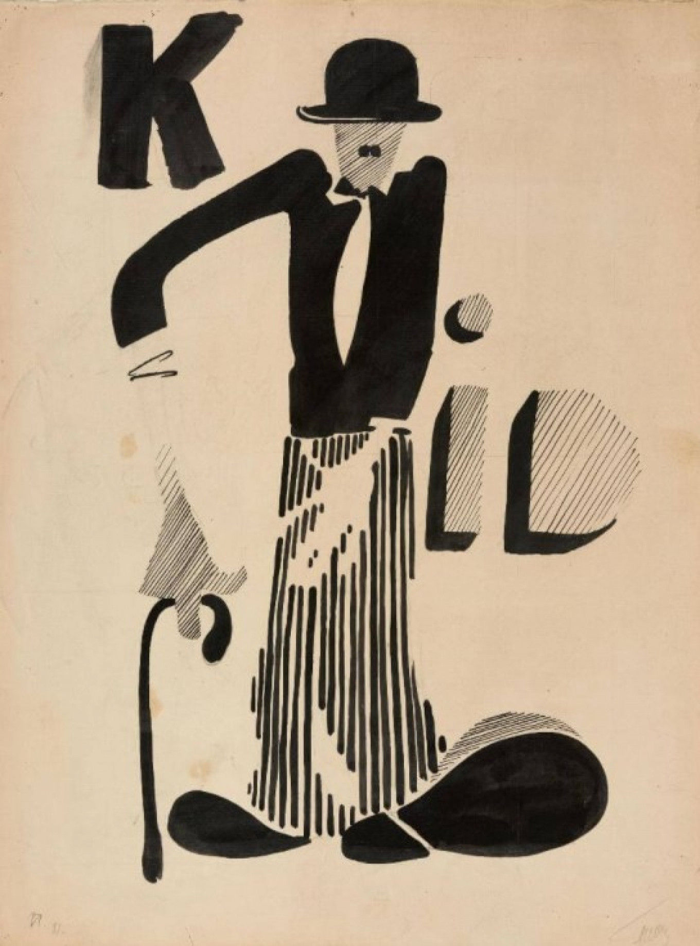 """Charlie Chaplin,"" by Yuri Pimenov Courtesy of State Tretyakov Gallery"