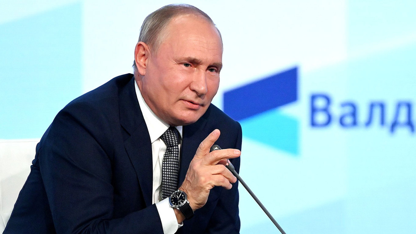 Putin Rails Against 'Monstrous' West in Valdai Speech – The Moscow Times
