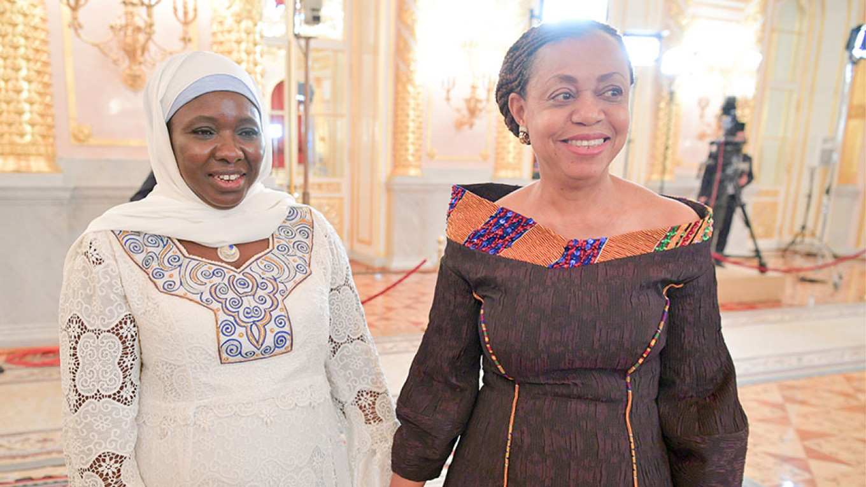 Gambia's Ambassador Jainaba Bah and Ghana's Ambassador Lesley Akyaa Opoku Ware Alexei Druzhinin / TASS