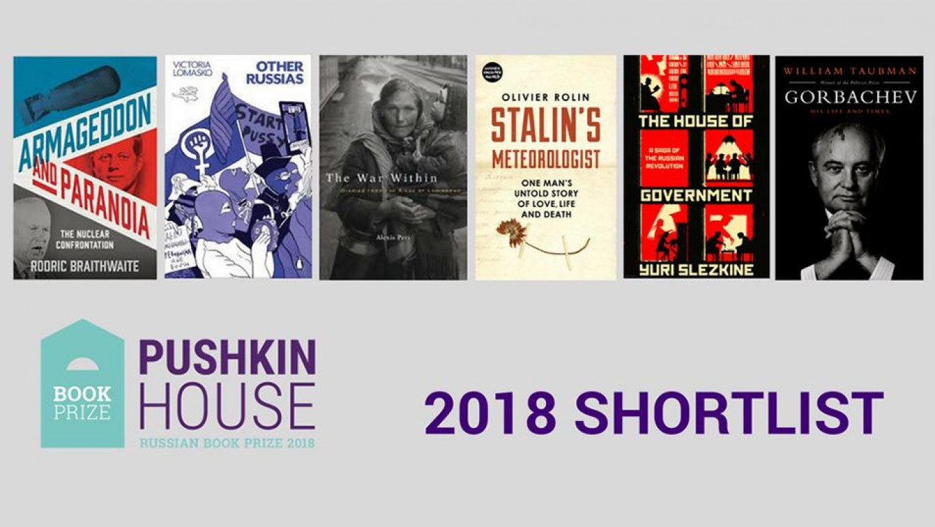 The short list of recommended reading. Courtesy of Pushkin House