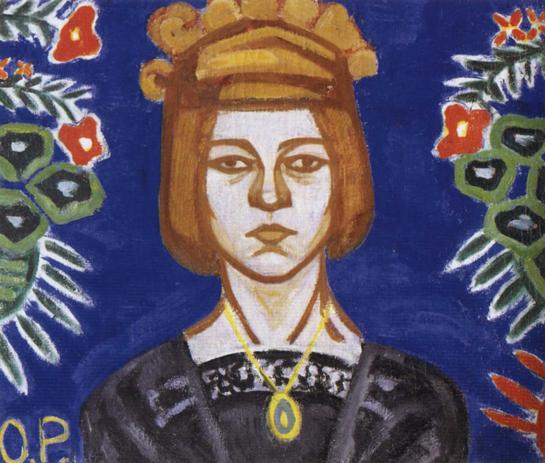 Olga Rozanova, self portrait