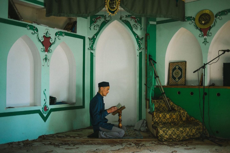 A student prays at the Volga Islamic Centre Sergey Karpov for TD