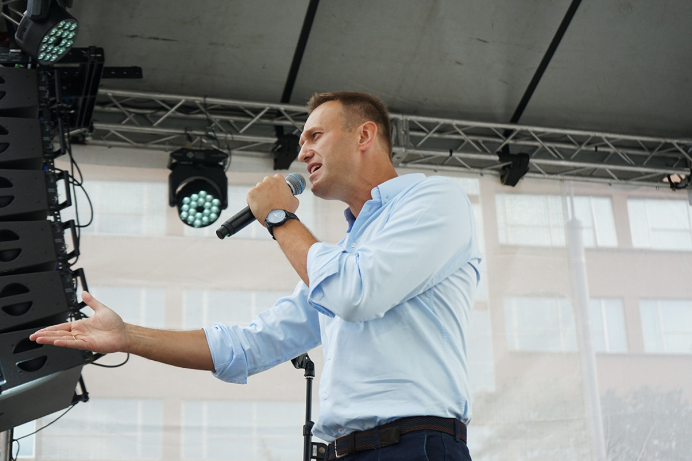 Opposition leader Alexei Navalny called for the demonstrations to continue next weekend. Héloïse Bargain / MT