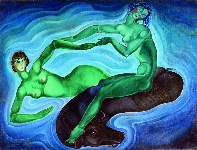 """Green Fairies"" by Lado Gudiashvili THE PUSHKIN STATE MUSEUM OF FINE ARTS"