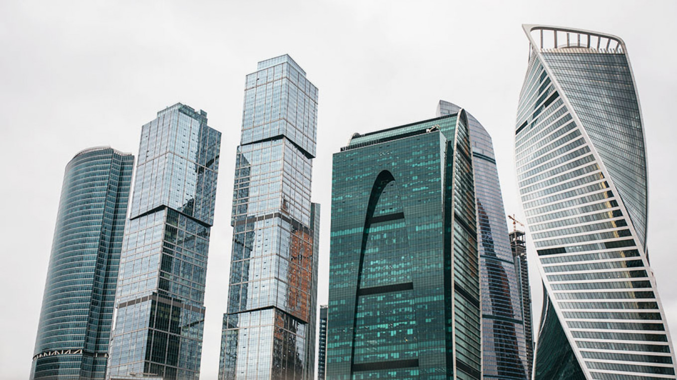 Moscow's financial district, Moskva-City, where Rustam Kurmayev & Partners is based. Dustin Taylor / MT