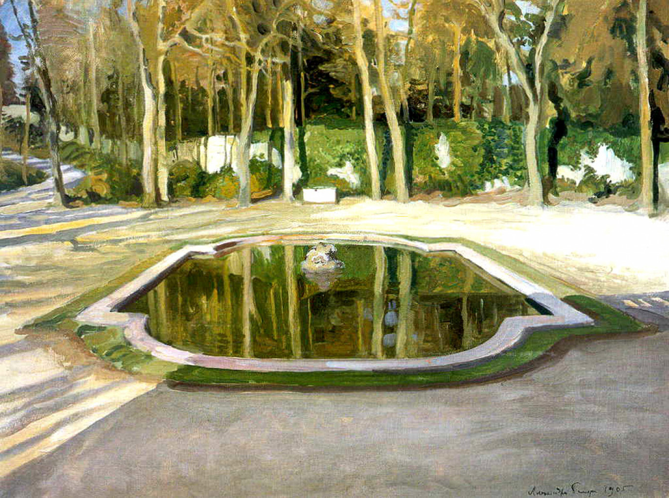 """Versailles. ""Mirror"" at Trianon,"" 1905 Benois				 				Courtesy of State Russian Museum"