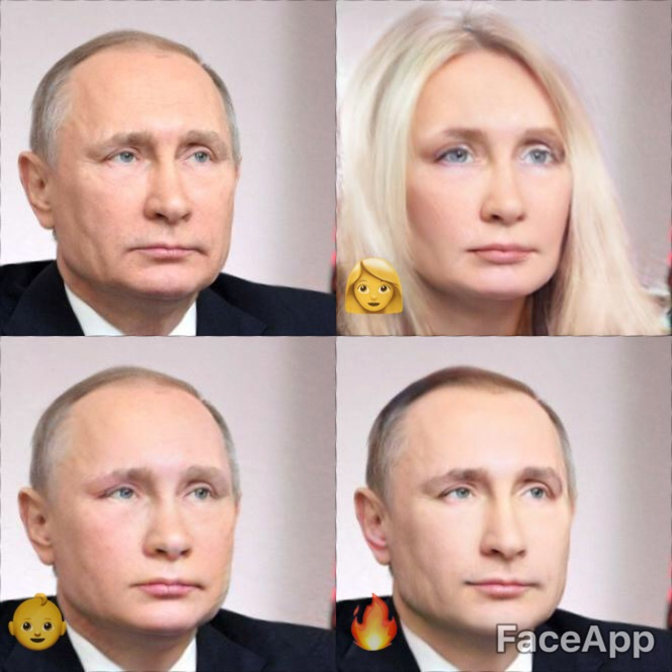 "Say hello to President Vladimir Putin. Female, young, and ""hot.""				 				Kremlin Press Service"