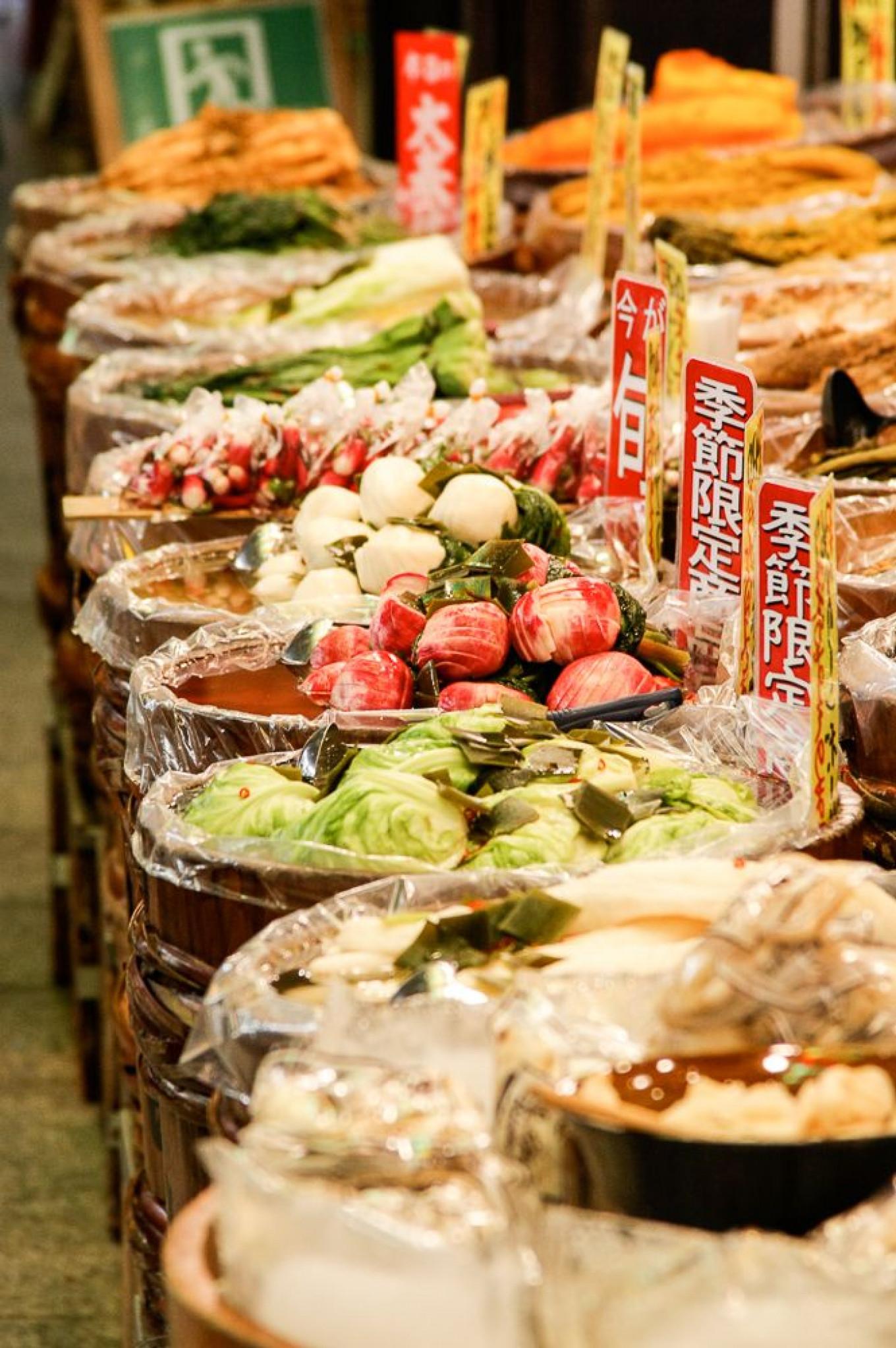 Fermented vegetables Kyoto market. Jennifer Eremeeva / MT