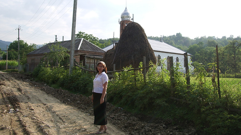 Natasha in a mountain village of Chechnya's Nozhai-Yurt district, 2008. Tanya Lokshina, 2008