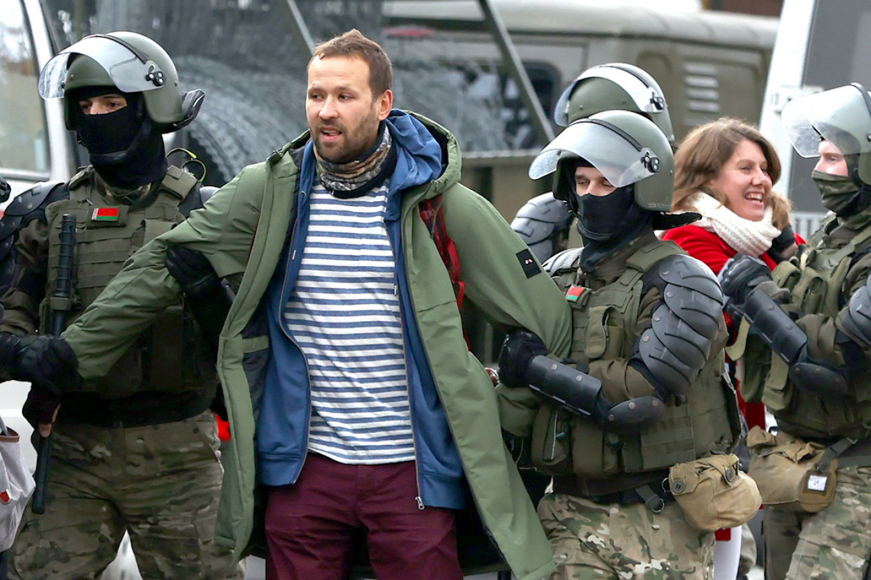 Police in Belarus dispersed protesters. Stringer / TASS