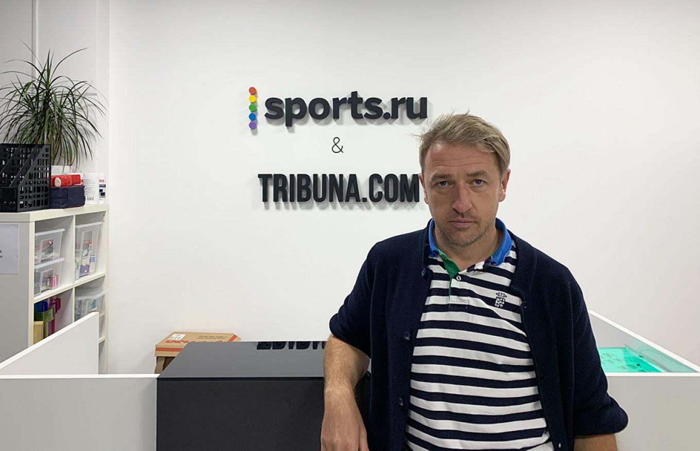 """Sports are an inherent part of authoritarian regimes,"" says Sports.ru co-founder Dmitry Navosha.  Evan Gershkovich / MT"