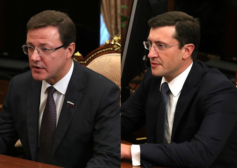 The new governors of Samara and Nizhny Novgorod, Dmitry Azarov and Gleb Nikitin, have an uncanny resemblance  Kremlin Press Service