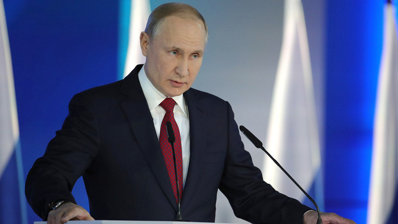 Putin Proposes Giving Parliament Power to Choose Russian PM