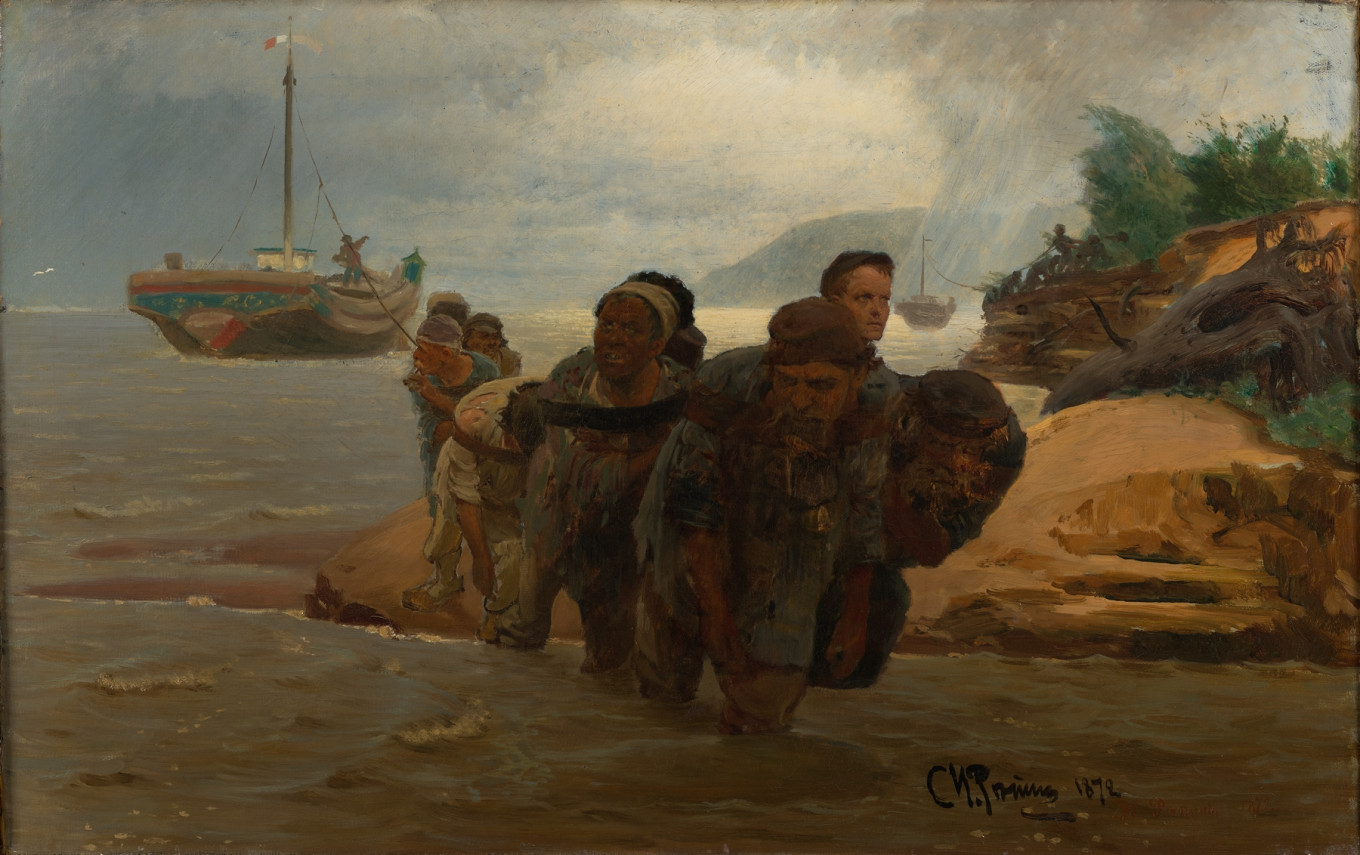 """Barge Haulers,"" 1872, Ilya Repin				 				Courtesy of the Tretyakov Gallery"