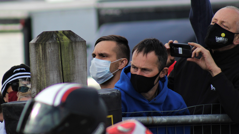 Krasniuk watches the racing as he awaits his start. Ben McCook / MT
