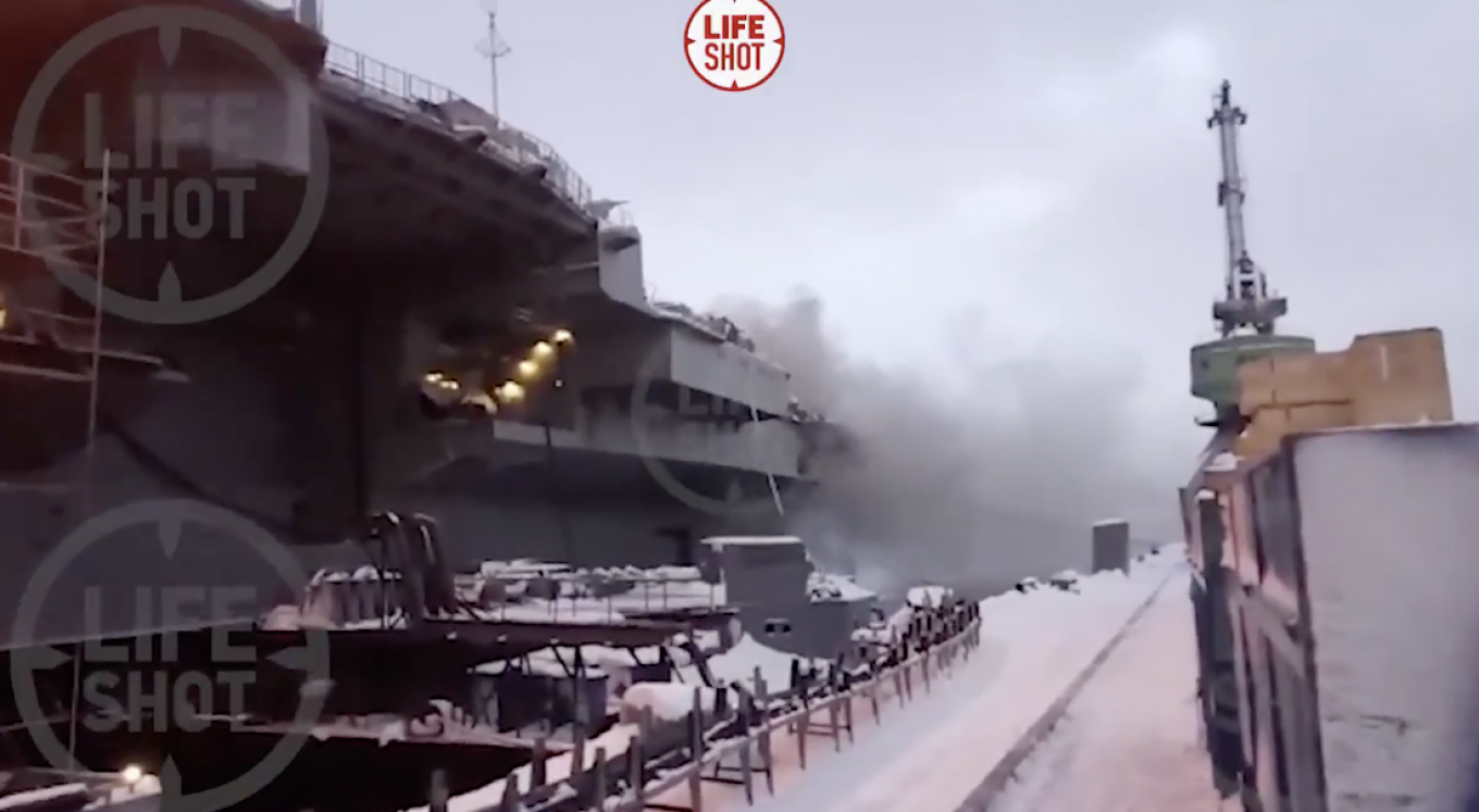 Fire at Russia's Only Aircraft Carrier Kills 1, Injures 12