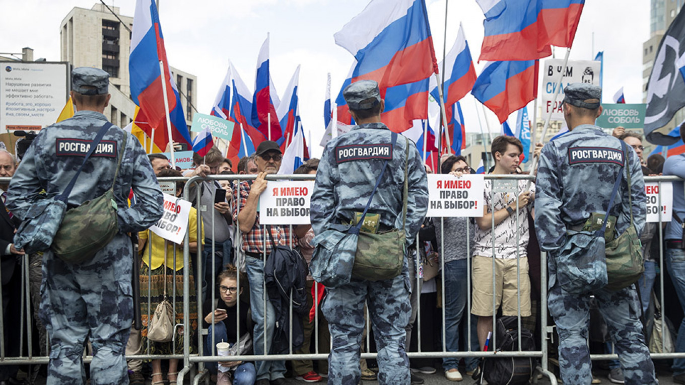 Protest in Moscow				 				Pavel Golovkin / AP / TASS
