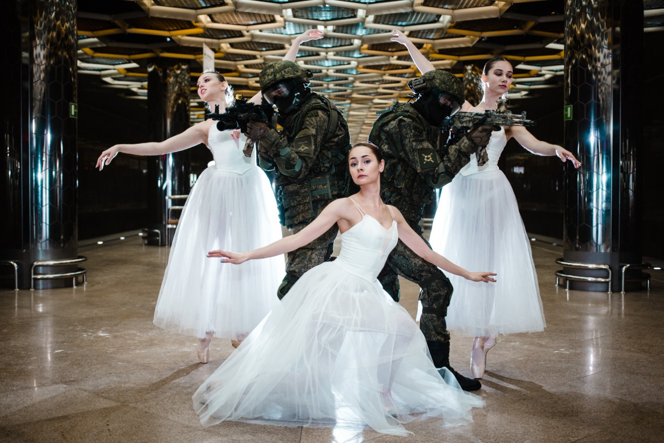 Russian Soldiers Join Ballerinas for Puzzling Women's Day ...