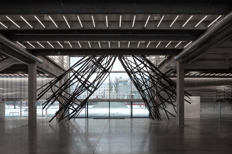 Another view of Sosnowska's sculpture. Ivan Erofeev / Garage Museum of Contemporary Art