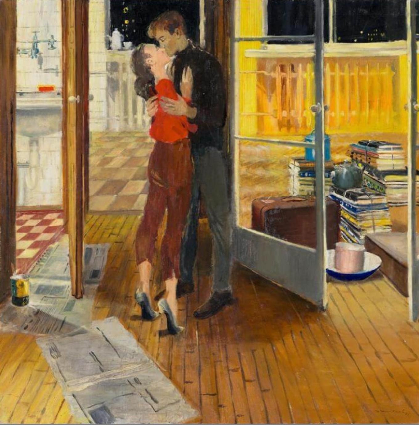 """""""Lyrical Housewarming,"""" by Yuri Pimenov, 1965 Courtesy of State Tretyakov Gallery"""