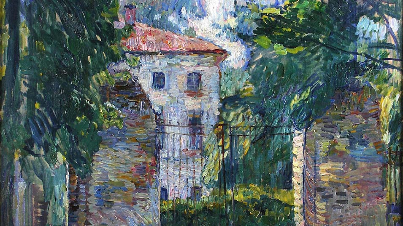 """""""House in Belkino"""" by Pyotr Konchalovsky, 1907  Courtesy of the Museum of Russian Impressionism"""