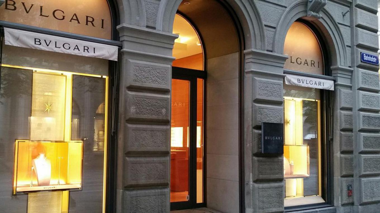 The Bulgari shop on Bahnhofstrasse, where Volkova claims Zyuzin bought her a jewelry set worth more than $800,000. Bulgari