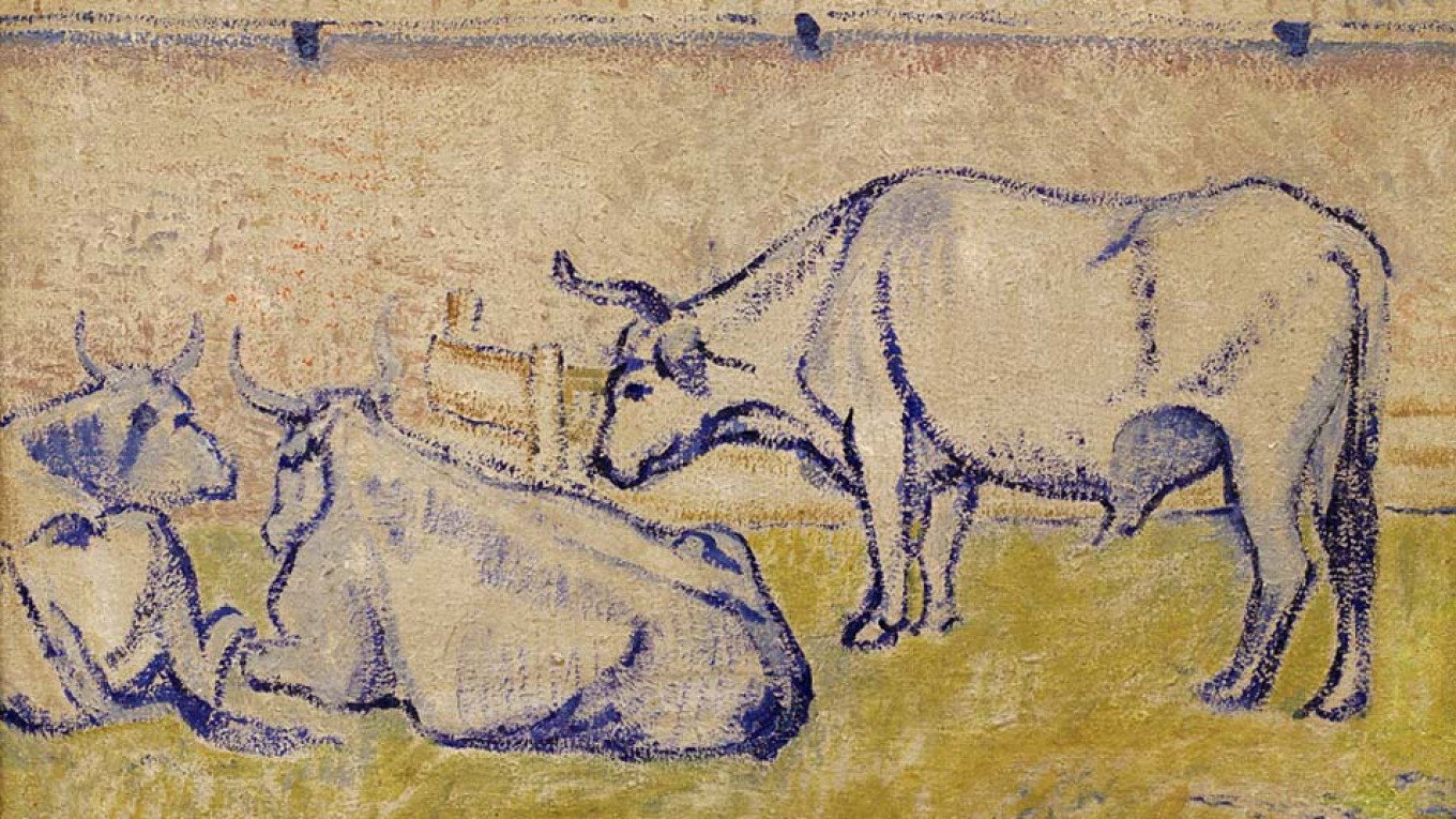 """""""Oxen"""" (1908) by David Burliuk  Courtesy of Museum of Russian Impressionism"""