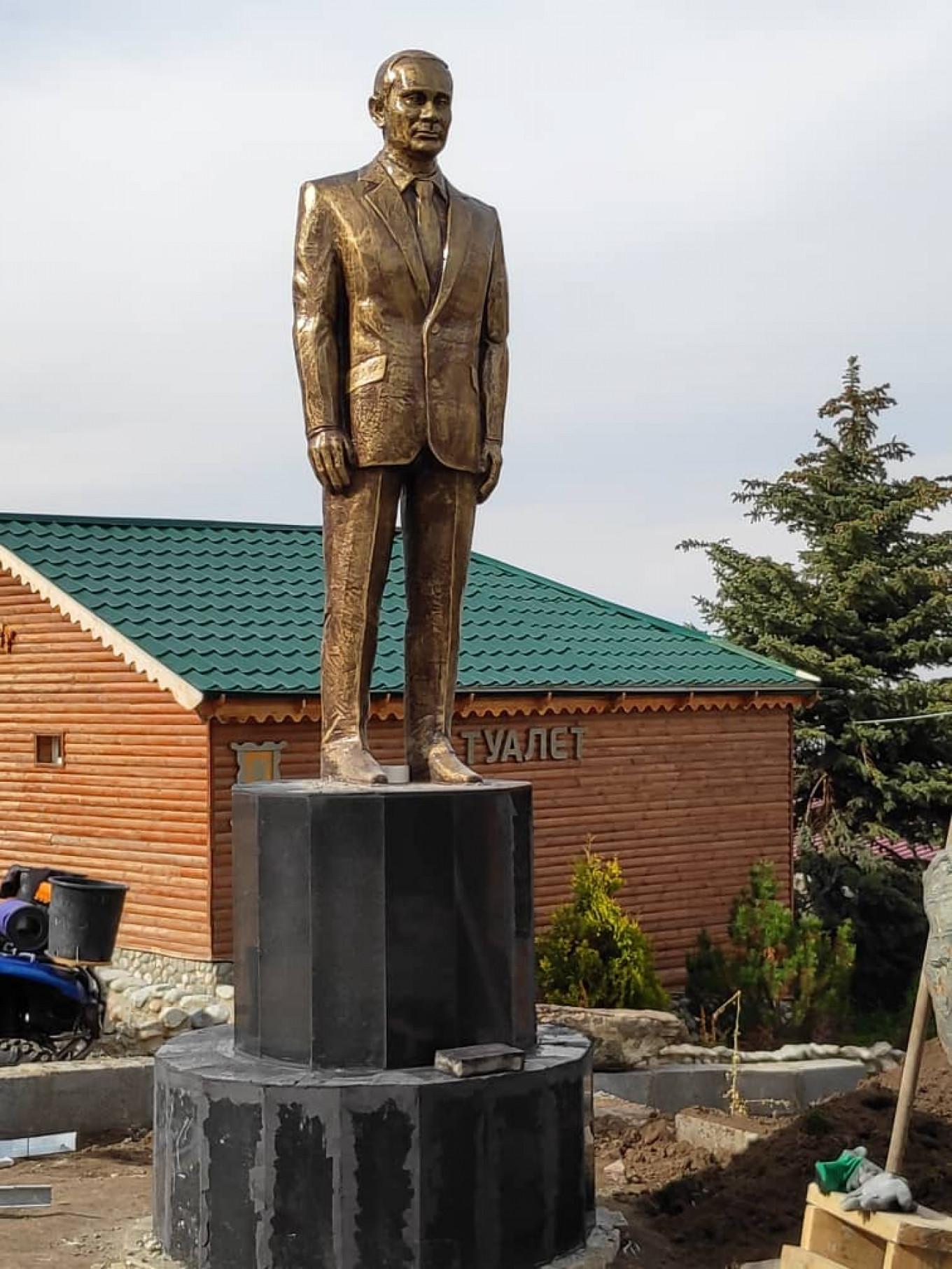 Image result for Kyrgyzstan Ski Resort Unveils $1.2 Million Vladimir Putin Statue: 'I Didn't Know How to Express My Gratitude'