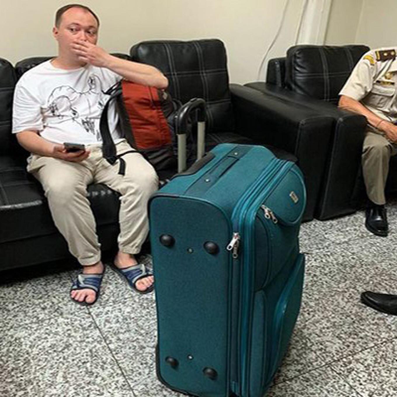 Roman Tomarev was detained at the departure terminal of Ngurah Rai Airport. radarbali.jawapos.com