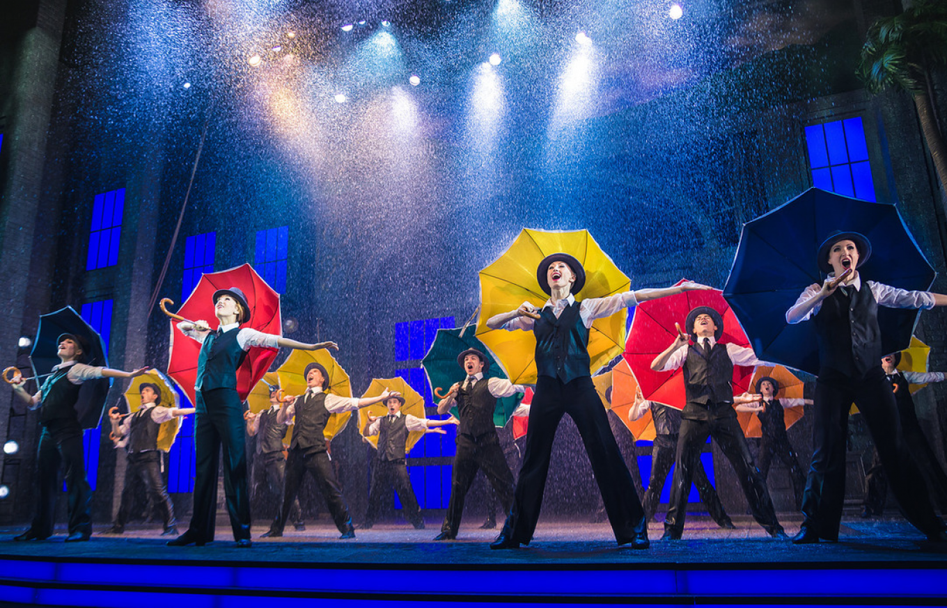 """Singing in the Rain,"" a Stage Entertainment Production which was staged last year at Moscow's Rossiya Theater.				 				Stage Entertainment"