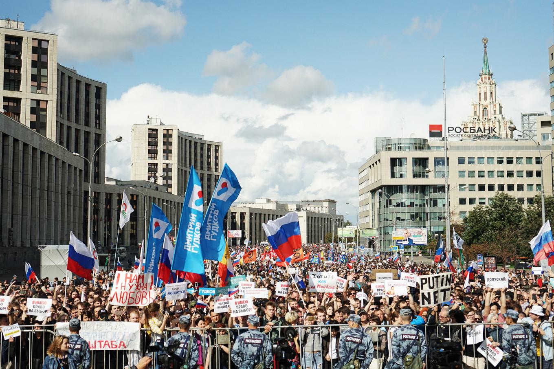 """It's really a protest against Putin,"" said political analyst Abbas Gallyamov. Héloïse Bargain / MT"
