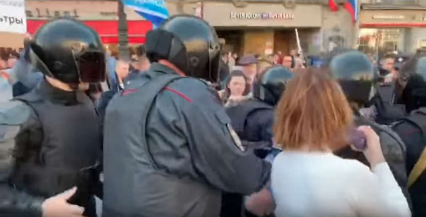 Over 100 Activists Detained At Russia's Labor Day Marches
