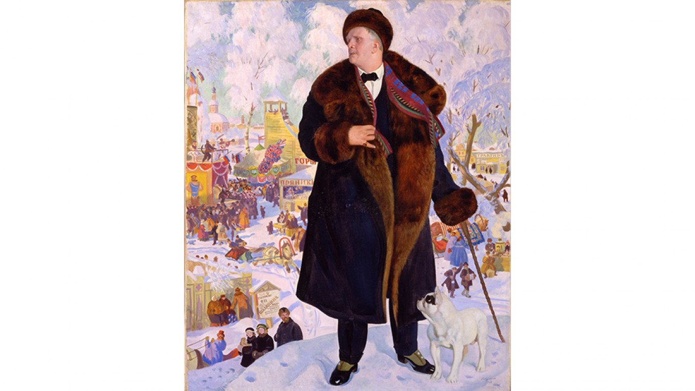 Boris Kustodiev's portrait of Chaliapin in 1921, just before he left Russia forever. Google Art Project