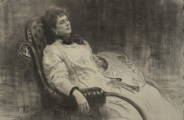 Portrait of Princess M.K. Tenisheva, 1898 by Ilya Repin State Tretyakov Gallery