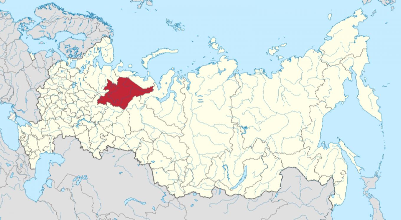 The Komi Republic, located in northeastern Russia.