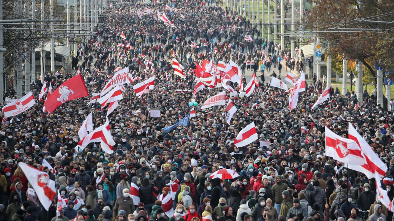 Belarus has seen historic anti-government protests. Natalia Fedosenko / TASS