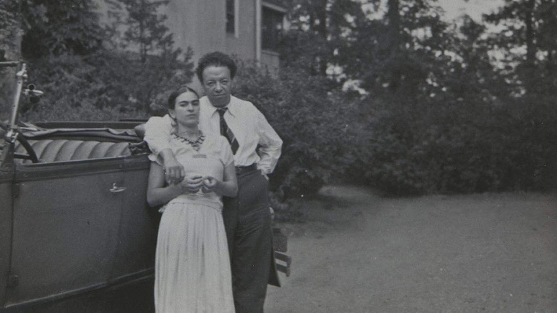 Frida Kahlo and Diego Rivera  Courtesty of Dolores Olmeda Museum