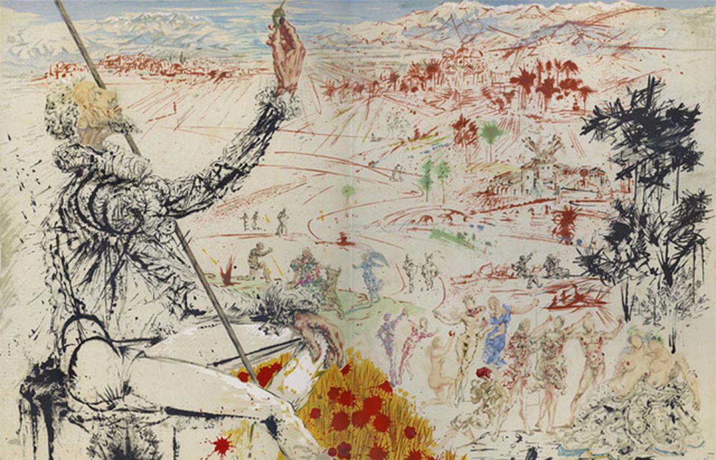 Don Quixote illustrated by Salvador Dali