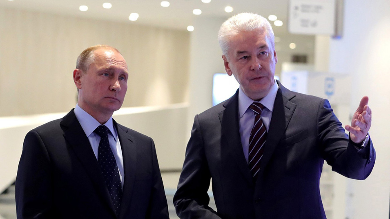 Analysts argue Sobyanin's political success has been made possible though his connections with Putin.  Kremlin.ru