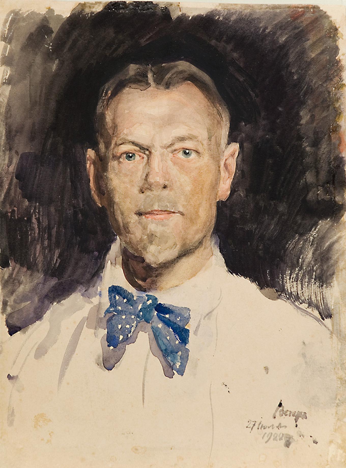 """Self-Portrait"" 1922 Courtesy of Rusimp"