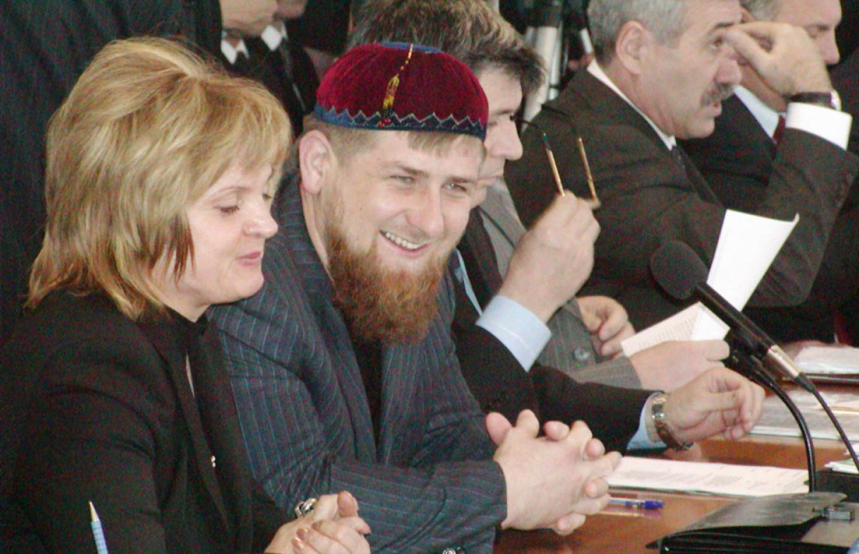 Pamfilova with Chechen leader Ramzan Kadyrov in 2005.  Ruslan Yarikhanov / TASS