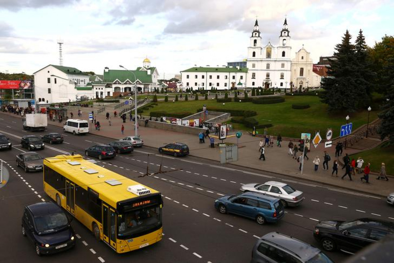 General view shows the Orthodox Cathedral in Minsk, Belarus. Vasily Fedosenko / Reuters