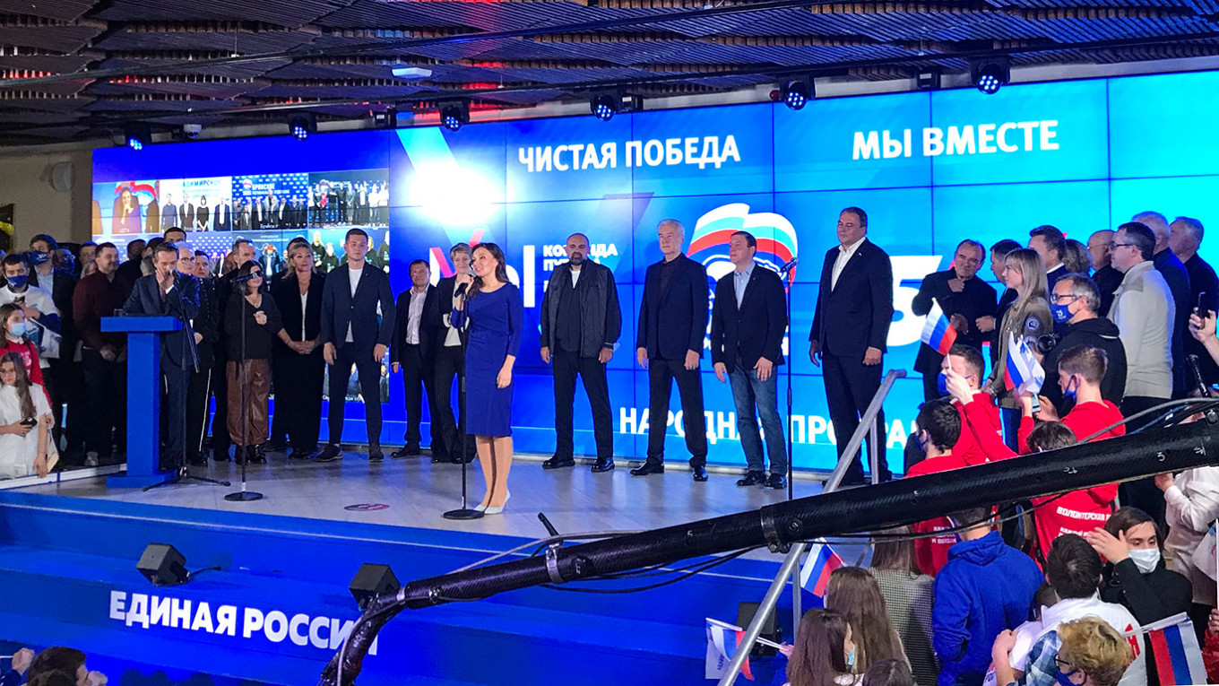 Putin's Party Says Secures Parliament Supermajority – The Moscow Times