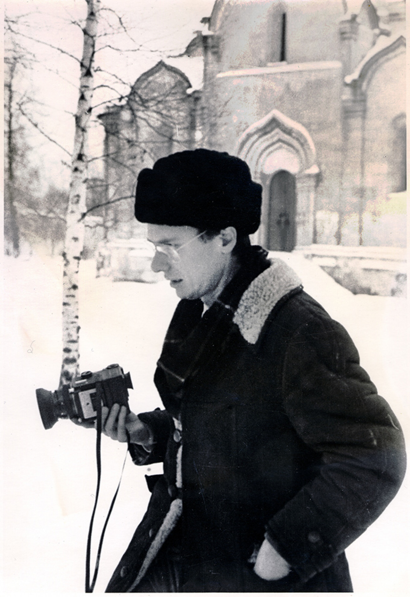 WC Brumfield at Savior-Andronikov Monastery, Moscow, Dec. 1979 Courtesy of author