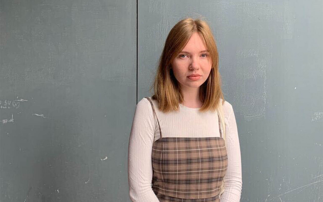 """Elizaveta Kirpanova said a colleague kissed her on the lips, saying: """"This is what harassment is."""" Evan Gershkovich / MT"""