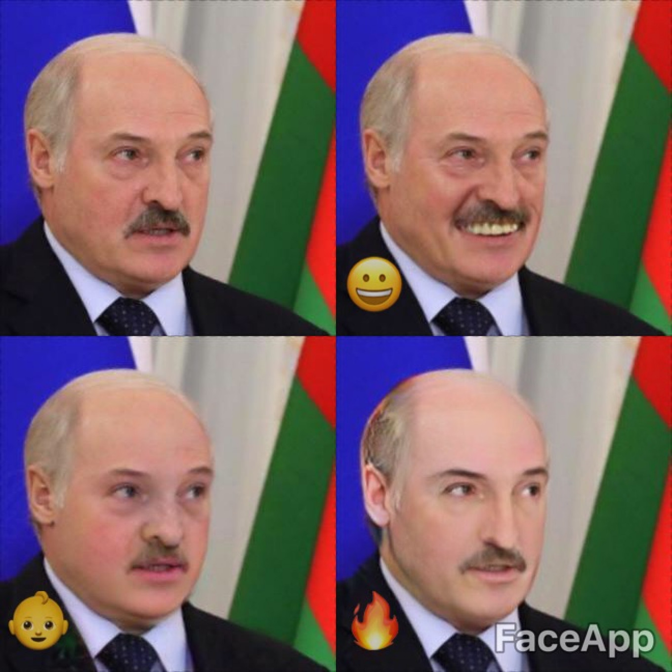 "He's not Russian, but let's take a moment to peek at Alexander Lukashenko, the dictator of Belarus: smiling, young, and ""hot.""				 				Kremlin Press Service"