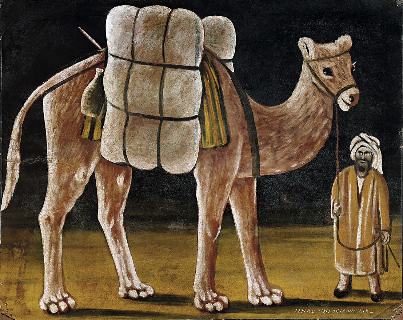 """""""Herder with Camel,"""" Niko Pirosmani (1910s) from the collection of Igor Sanovich Museum of Russian Impressionism"""
