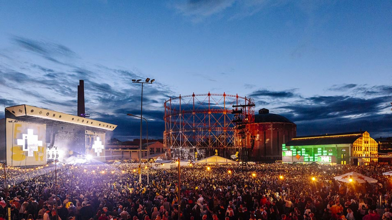 """A """"compact yet packed"""" music fest. Petri Anttila / Courtesy of Flow Festival"""